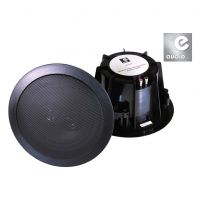 eAudio Black Ceiling Speakers with Twin Offset Tweeters 60W.rms