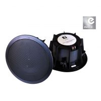eAudio Black Ceiling Speakers with Twin Offset Tweeters 90W.rms