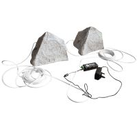 Bluetooth Grey Garden Rock Speaker Kit