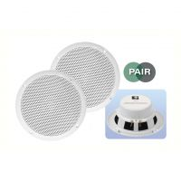 White 5 inch 8Ohm 80W Moisture Resistant Speakers