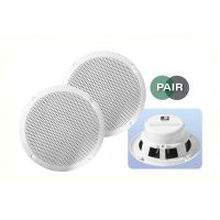 White 5 inch 16Ohm 80W Moisture Resistant Speakers
