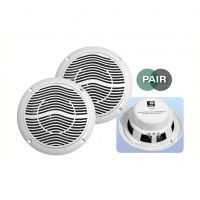 White 5 inch 4Ohm 80W Moisture Resistant 2 Way Speakers