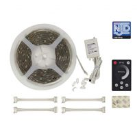 NJD White LED Tape Light Kit 5M