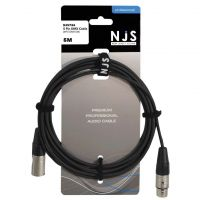 NJS Professional 5 Pin DMX Lead XLR to XLR 5M