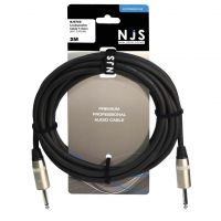 NJS Pro Speaker Lead Mono Jack to Jack 1.5mm Cable 2M