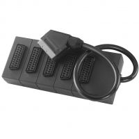 5 Way Scart Splitter with Plug and 5 Scart Sockets