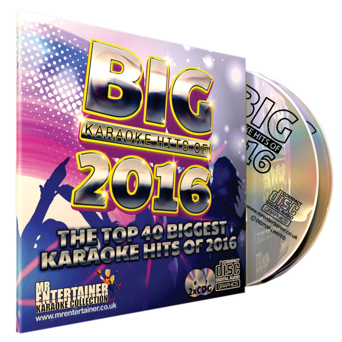 Mr Entertainer Big Karaoke Hits Of 2018-2 X Cd+g Disc Package 40 Songs cdg