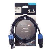 NJS Pro Speaker Lead Speakon to Speakon 2.5mm Cable 1M
