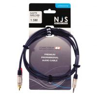 NJS Professional Audio Lead 2x Phono to 3.5mm Stereo Jack 1.5M
