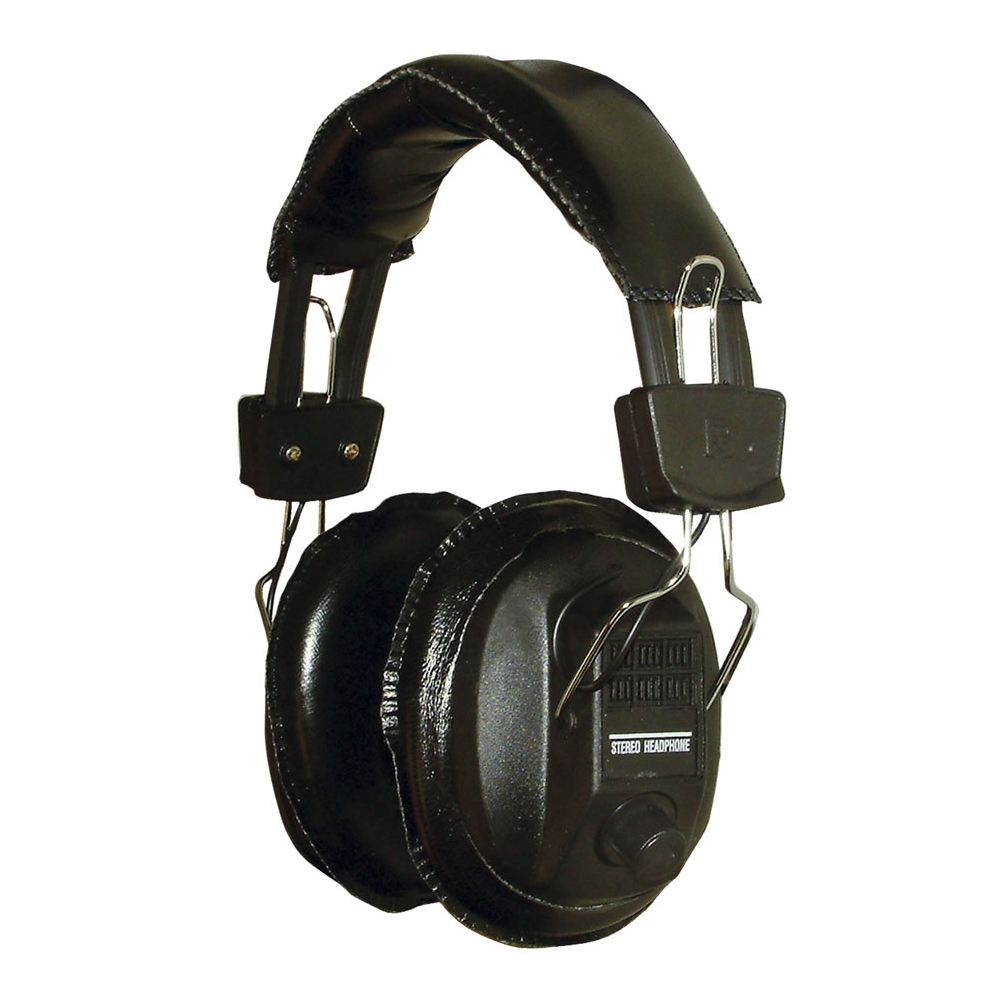 Stereo Mono Padded Headphones With Volume Controls