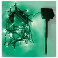 Eagle LED Solar Powered Outdoor String Lights 100 LEDs 10m Length. Green