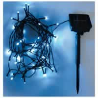 Eagle LED Solar Powered Outdoor String Lights 200 LEDs 20m Length. Blue