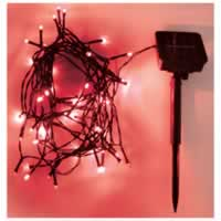 Eagle LED Solar Powered Outdoor String Lights 200 LEDs 20m Length. Red