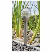 Luxform Conga LED Solar Spike Light with Cracked Glass. Single