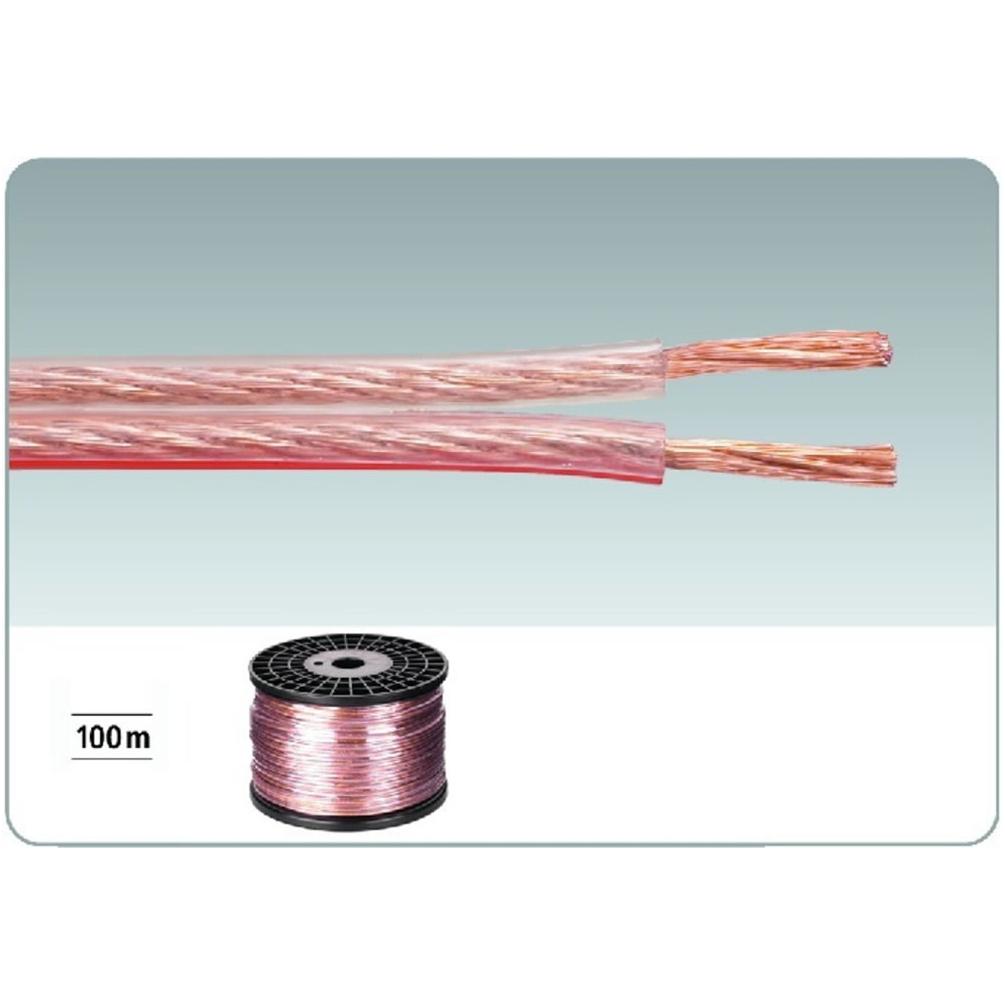 Monacor SPC-115CA Transparent Speaker Cable. 100m