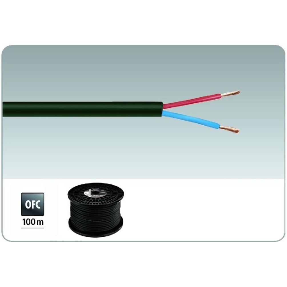 IMG Stage Line SPC-525/SW 2 Core 100V Speaker Cable. Black 100m