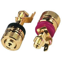Monacor BP 520G Speaker Pole Terminals (Pair)