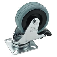 Monacor GCB 75B Swivel Castor 100mm with Brake