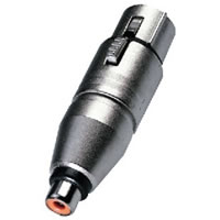 Neutrik NA 2FPMF Adapter XLR Plug to Phono Socket