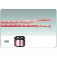 Monacor SPC 115CA Transparent Speaker Cable. 100m