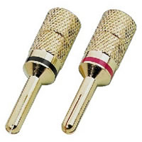 Monacor SPC 425/B Banana Plugs. 4mm (Pair)