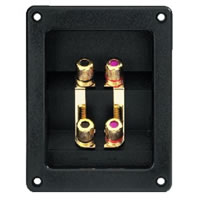 Monacor ST 400GM G/P Bi Wiring Speaker Terminals