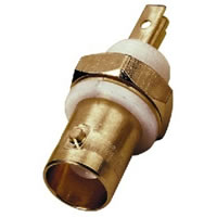 Monacor UG 1094B/UG Gold plated BNC Socket 50 Ohm