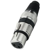 Monacor XLR 207J/SW Metal 3 Pole XLR Jack (Black)