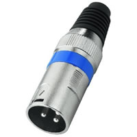 Monacor XLR 207P/BL Metal 3 Pole XLR Plug (Blue)