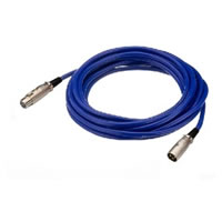 IMG StageLine MEC 50/BL Microphone XLR Extension Lead. Blue 0.7m