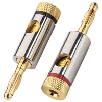 Monacor BP 150 Gold plated Banana Plugs 4.5mm (Pair)