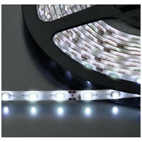 Monacor LEDS 5MPE/WS Flexible LED Strip 12V DC. White 5m