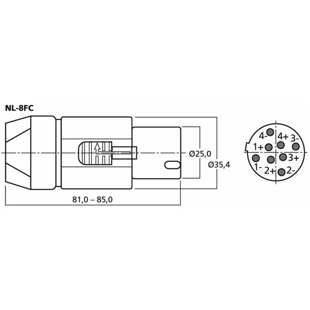 Neutrik Nl 8fc 8 Pole Speakon Plug