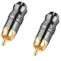 Monacor T 723G High end RCA Phono Plugs (Pair)