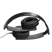 Black Slim Profile Folding Stereo Headphones