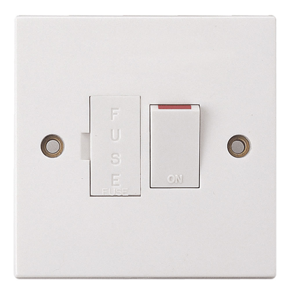 White 13 Amp Switched Fused Spur  Only  U00a32 24