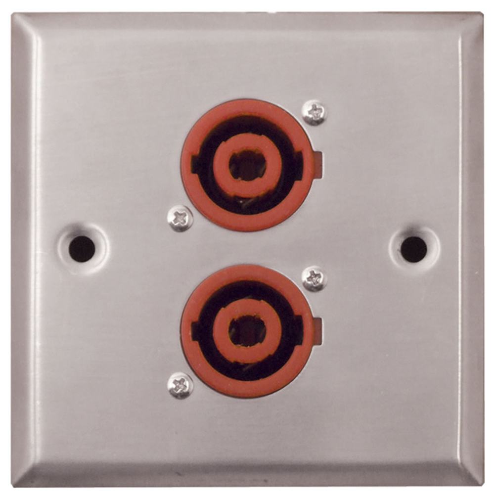 Silver Metal Av Wall Plate With 2x 4 Pole Speakon Connectors Xlr Wiring Diagram