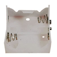 White Battery Holder which Holds 2x D Cells