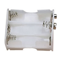 White Battery Holder which Holds 6x AA Cells