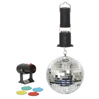 Cheetah 6 inch Mirror Ball Spotlight Set