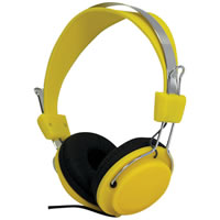 SoundLAB Fashion Colours Yellow Stereo Headphones